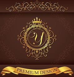 Letter Y Luxury Logo template flourishes vector