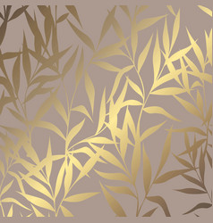 luxury golden pattern with branches on a brown vector image