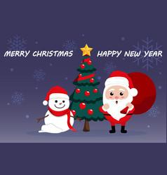 merry christmas 03 vector image