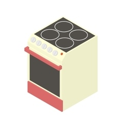 Modern electric cooker icon cartoon style vector