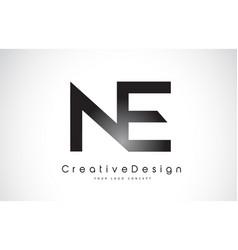 Ne n e letter logo design creative icon modern vector