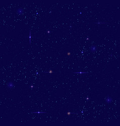 Night starry sky seamless background small vector