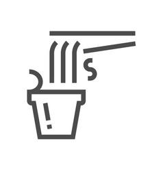 noodle cup icon vector image