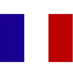 official national flag of france vector image vector image
