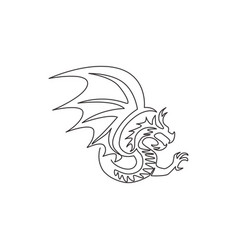 one continuous line drawing mythological vector image