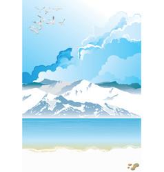 Picturesque arctic landscape vector