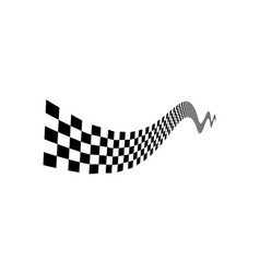 racing flag design template race flag design vector image