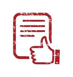 Red grunge like document logo vector