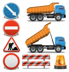 Road Construction Icons set 2 vector