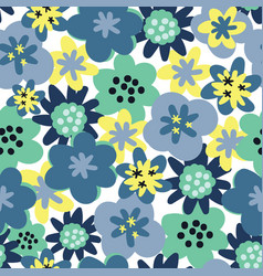 seamless pattern background flower seamless vector image