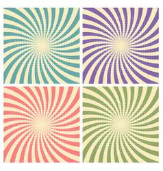 Set circus graphic radius effects retro green vector