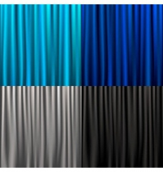 set curtain vector image