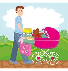 shopping for newborn vector image