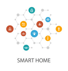 Smart home presentation template cover layout and vector