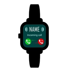 Smart watches call vector image