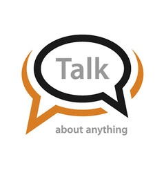 Speech bubble talk icon vector