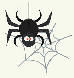 spider silhouette arachnid fear graphic flat scary vector image