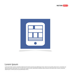 tablet icon - blue photo frame vector image