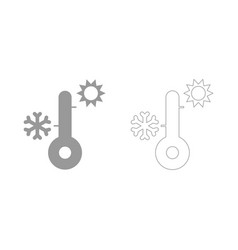 thermometer set icon vector image