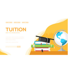 Tuition landing page template vector