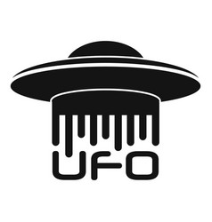 Ufo logo simple style vector
