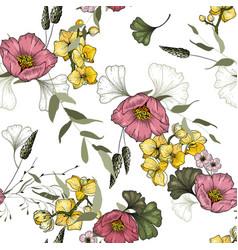 vintage background wallpaper hand drawn trendy vector image