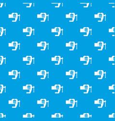 Vise tool pattern seamless blue vector