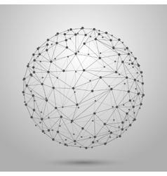 Wireframe 3d mesh polygonal sphere vector