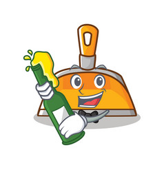 With beer dustpan character cartoon style vector