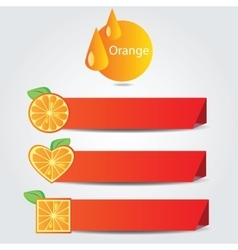 Shapes of orange fruit - set of banners vector image
