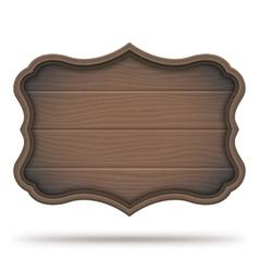 Vintage Wooden Signboard vector image vector image