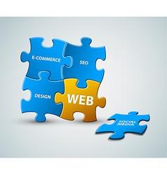 web solution vector image vector image