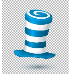 Blue and white colors striped realistic vector image vector image