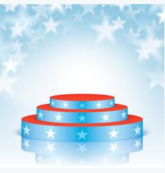 blue scene with stars on a bokeh background vector image