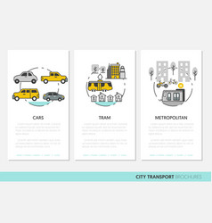 city transport business brochure template linear vector image vector image
