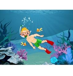 Diver Boy vector image