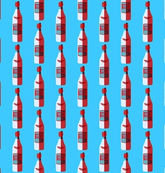 pop art vodka bottle seamless pattern vector image