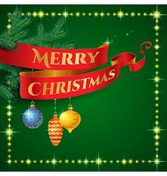 ribbon christmas vector image