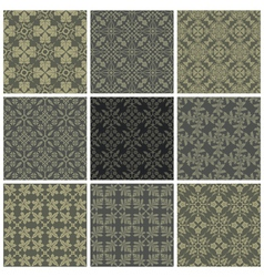 Seamless print patterns vector image