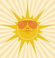 Sun smiles vector