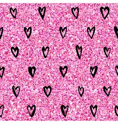 Valentines Day Heart Gold Glitter Pattern vector image vector image