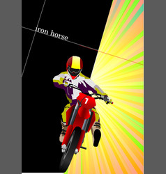abstract background with motorcycle image vector image vector image