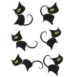 black kitty vector image vector image
