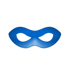 eye mask in blue design vector image vector image