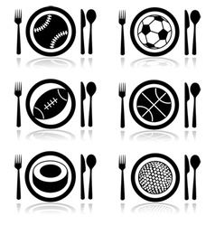Hungry for sports vector image