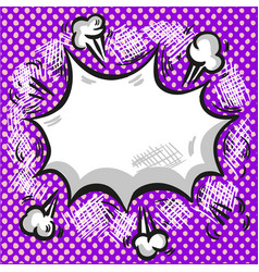 pop art comic style exploding background vector image
