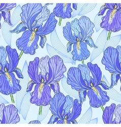purple iris vector image vector image