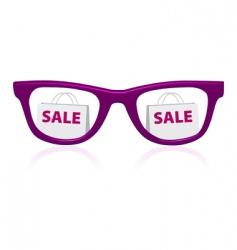 sale sunglasses icon vector image vector image