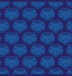 seamless pattern japanise blue ornament vector image