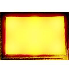 Yellow Gold Celebrate border Grunge Background vector image vector image